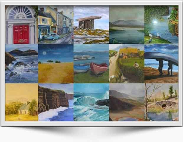 Montage of Inis Artist Paintings